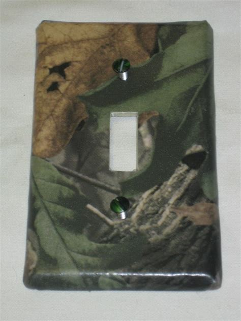 mossy oak camo deer moose light switch plate cover