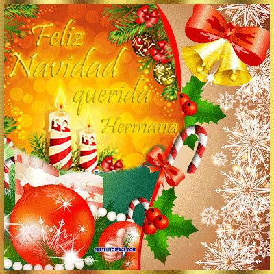 imagenes feliz navidad hermanita feliz navidad hermana tarjetitas de felicitaciones navidad