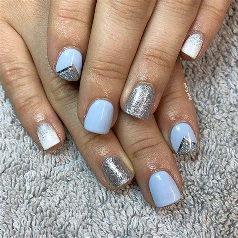 imagenes de uñas en blanco y plata 80 dise 209 os de u 209 as plateadas u 209 as decoradas nail art
