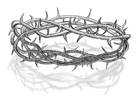 printable crown of thorns matthew 15 17 illustration crown of thorns saint mary