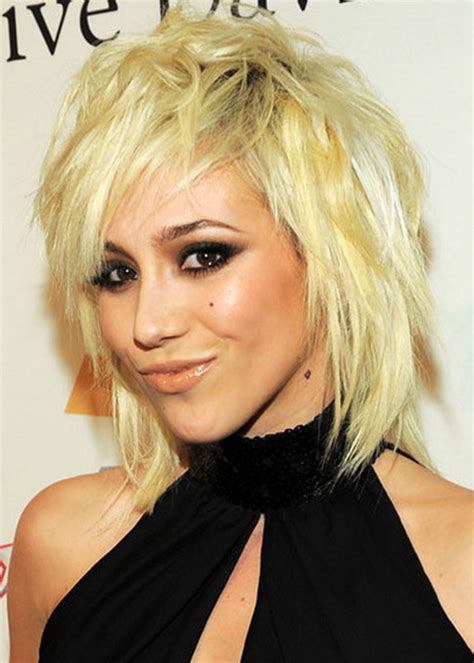 womens medium length layered razor cut hairstyle choppy layered hairstyles
