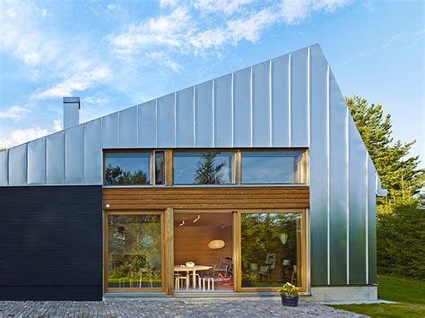 metal clad house l is a contemporary retreat in