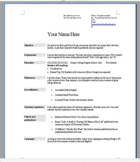 How To Write A Resume With No Job Experience Example by 6 What Does A Job Resume Look Like Basic Job Appication