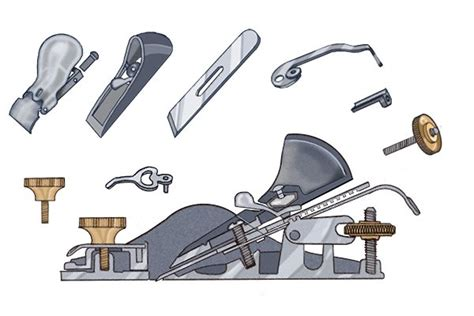 woodworking plane parts what are the parts of a metal block plane