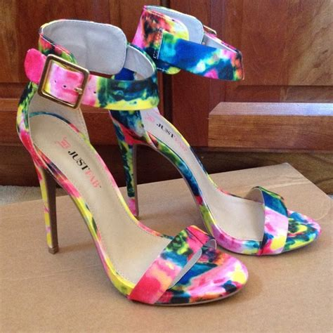 multi colored high heels justfab floral ish multi color heels from s