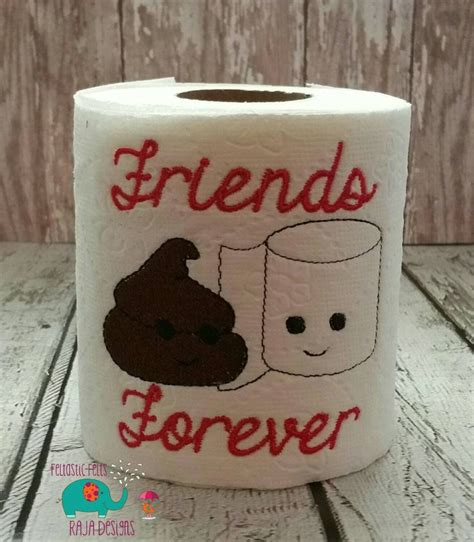 funny bathroom gifts friends forever embroidered toilet paper gag gift white