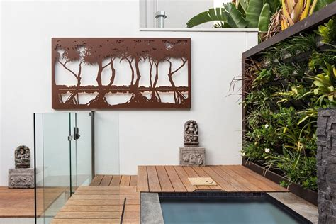 metal wall outdoor garden wall melbourne entanglements