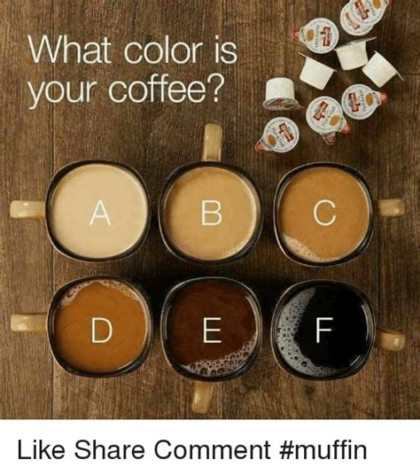 what is your color what color is your coffee like comment muffin