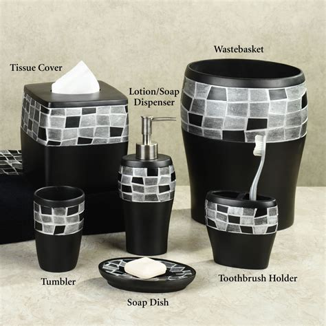 black and white bathroom accessories sets black bathroom accessories 7