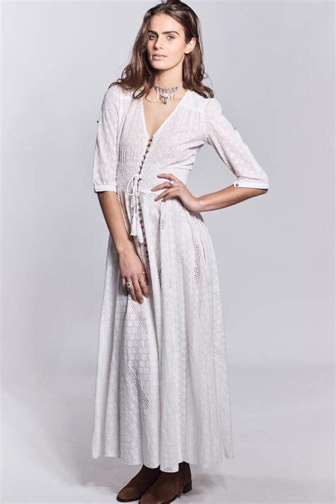 Sale Dress Import 1771 White jaase white bohemian dress from queensland by white bohemian shoptiques