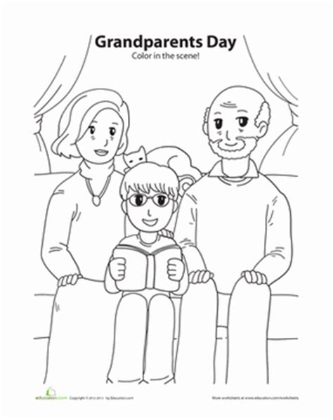 grandparents day coloring pages preschool grandparents day coloring grandparents worksheets and