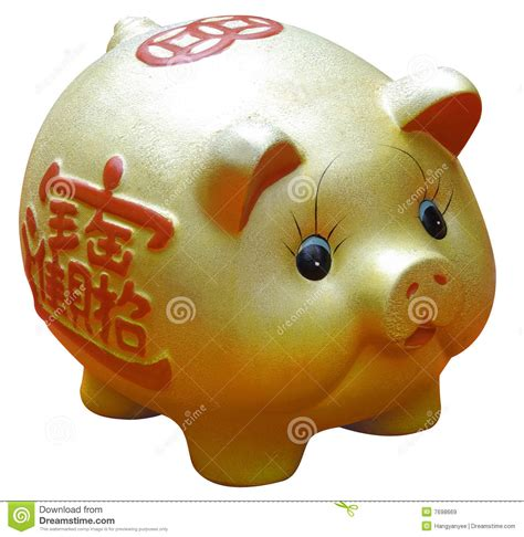 new year of the golden pig new year gold pig stock image image of asia