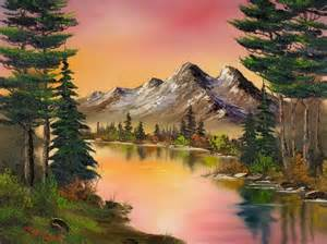 bob ross painting a happy tree bob ross a sunset or you choose beautifully done