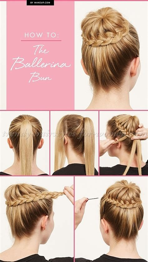 step by step womens hair cuts hairstyle tutorials balerina bun step by step trendy