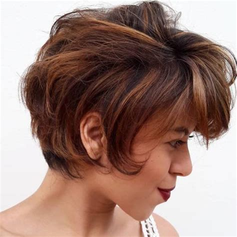short brown hairstyles with carmel highlights pixie haircuts for thick hair 40 ideas of ideal short