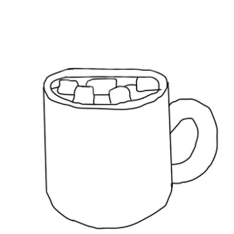 Hot Chocolate Cup With Marshmallows By Liongirl2289 On Deviantart Chocolate Cup Template