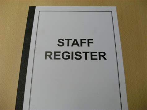staff register book clh group