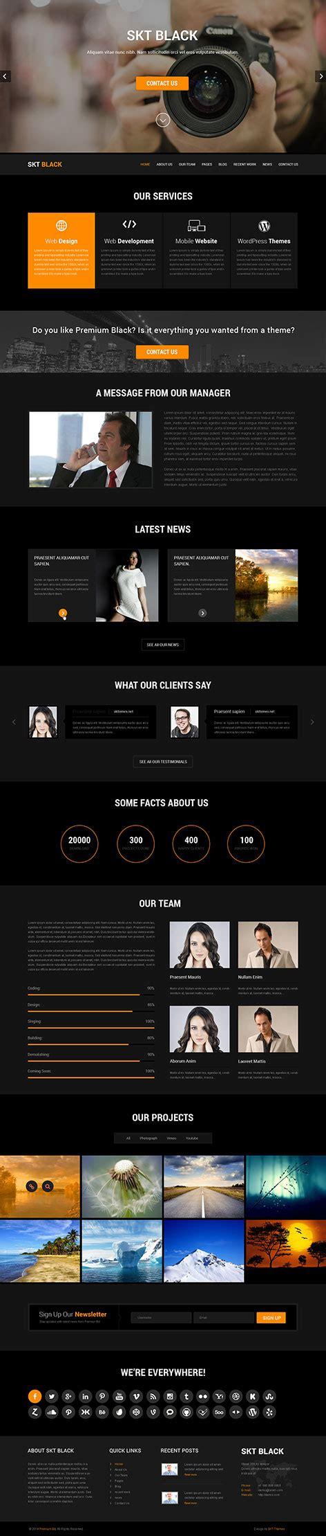design by skt themes dark and black wordpress theme for darker website usage