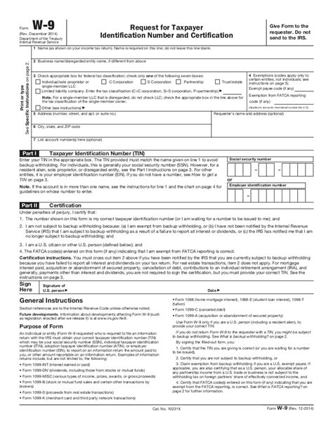 W9 fillable encl 4 W 4 Form 2015 Printable Spanish Irs