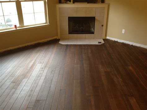 kitchen concrete floor that looks like wood harmon concrete