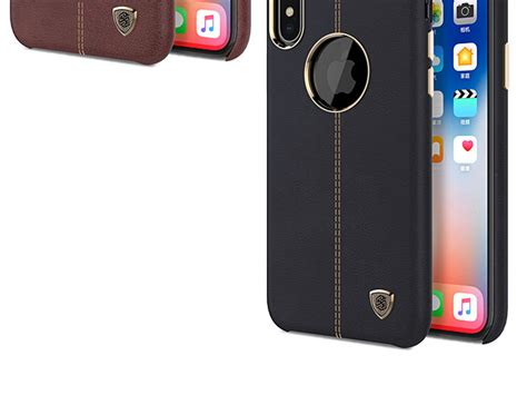 nillkin englon leather cover for iphone x