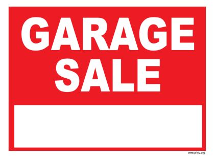 garage sale sign template garage sale signs