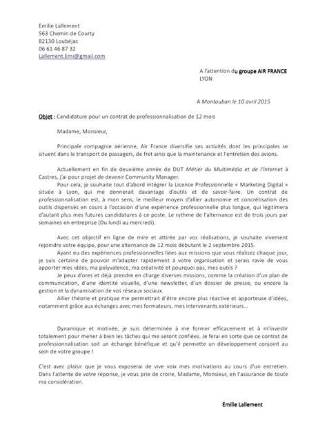 Lettre De Motivation De Manager Lettre De Motivation Pdf Par Emilie Lallement Fichier Pdf