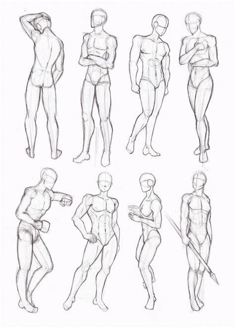Drawing Bodies by The Gallery For Gt Anime Boy Sketch Whole