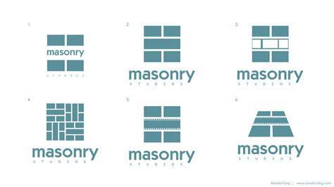 layout and logo masonry logo design ronald fong