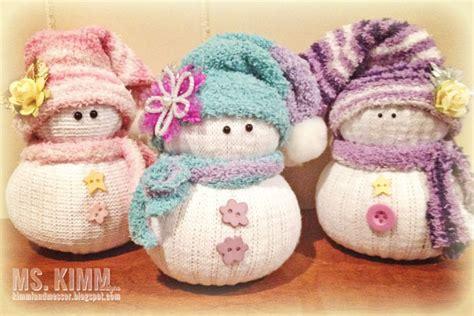Handmade Snowmen - ms kimm creates handmade sock snowmen tutorial