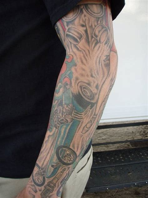 automotive tattoo sleeve left sleeve car tattoo for men tattooshunt com