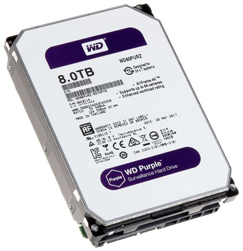 Disk Wd 1 Tb Purple 3 5 Cctv 8tb 3 5 quot sata3 6 0gbps wd 174 purple surveillance hdd computer house