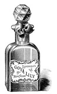 old fashioned perfume bottle drawing