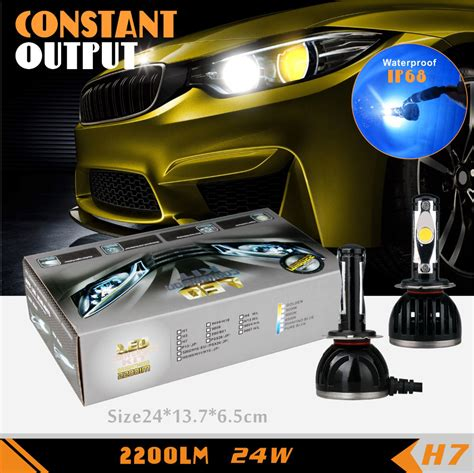 halogen to led work light conversion kit ruiguang h7 led headlight conversion kit 24w 2200lm 6500k