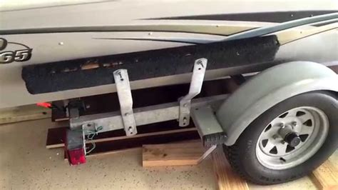 replacing boat trailer rollers with bunks boat trailer replace side bunk carpet youtube