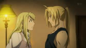 fullmetal alchemist winry and edward alchemy brotherhood older ed and winry anime full metal