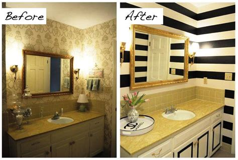 Inexpensive Bathroom Makeovers Before And After by Inexpensive Bathroom Makeovers Before And After Bathroom