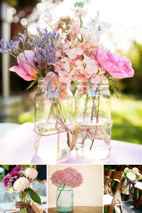 Mason Jars As Vases For A Wedding   Weddings By Lilly