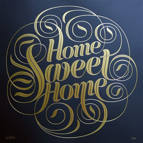 home gold seb lester home sweet home gold foil edition prints