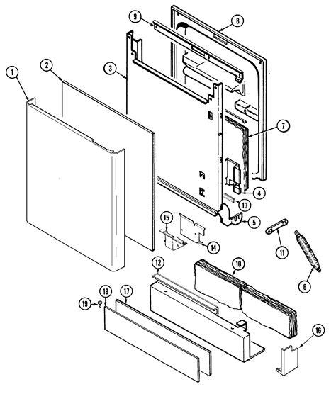 jenn air parts diagram door blue creek diagram parts list for model dw861uqu