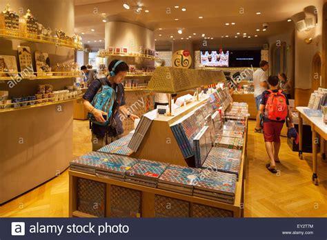 shop casa tourists shopping in the gift shop casa batllo designed