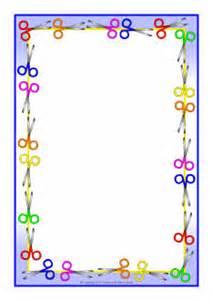 scissor themed a4 page borders sb5997 sparklebox