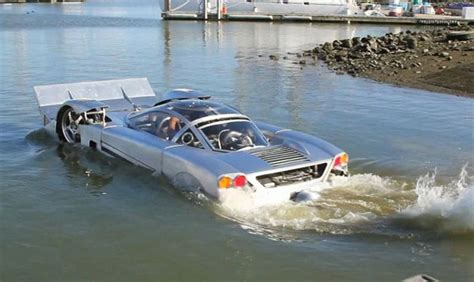 car that is also a boat 7 hibious cars that can run on both land and water