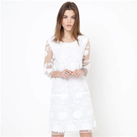 Robe Dentelle Femme La Redoute - robe r 233 sille et broderie mademoiselle r robe la redoute