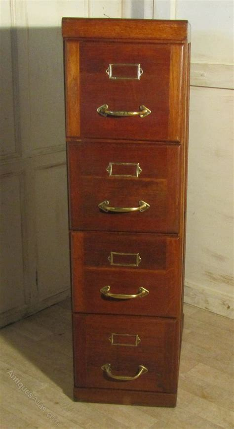 A Large Art Deco 4 Drawer Oak Filing Cabinet   Antiques Atlas