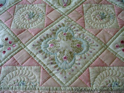 Machine Embroidery Quilt Patterns by Addicted To Quilts Two Pretty Embroidery Quilts