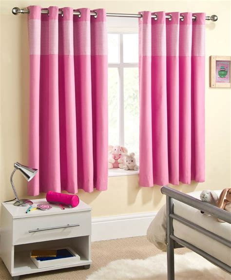 Sweetheart pink eyelet curtain ready made curtains online