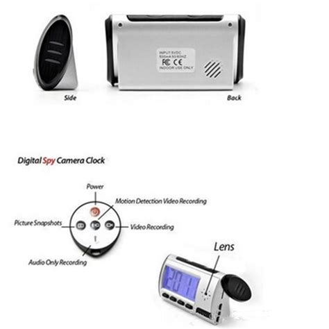 Digital Alarm Clock With Motion Detection newest 2 5 inch lcd digital alarm clock motion