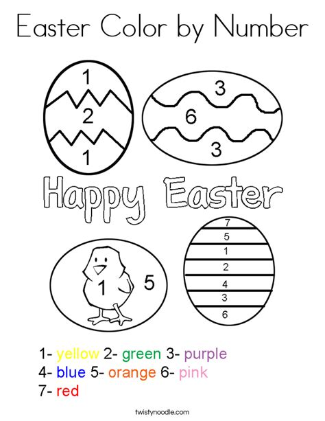 easter coloring pages by numbers easter color by number coloring page twisty noodle