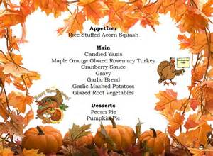 Thanksgiving Day Menus Thanksgiving Menu Baby And Life